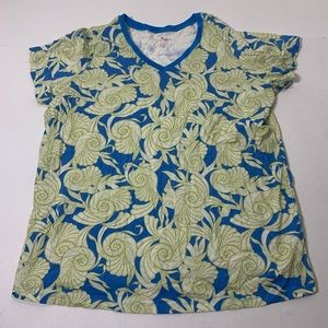 Women's Size 1X Woman Within Seashell Shirt